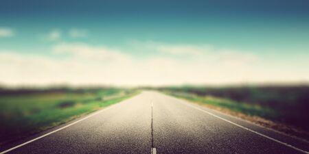 Speed way road blur effect panoramic