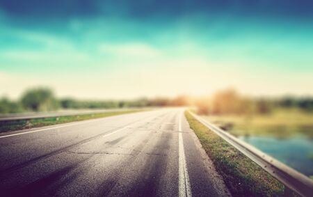 Beautiful highway road blur effect Imagens