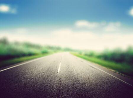 Summer road background blur effect