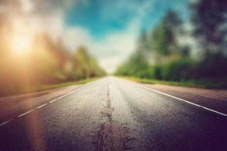 Speed way road blur effect Imagens