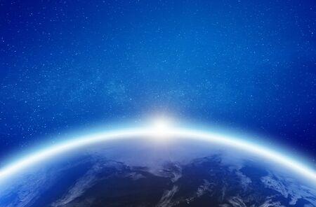 Earth glow horizon.