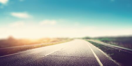 Beautiful highway road blur effect panoramic Stockfoto