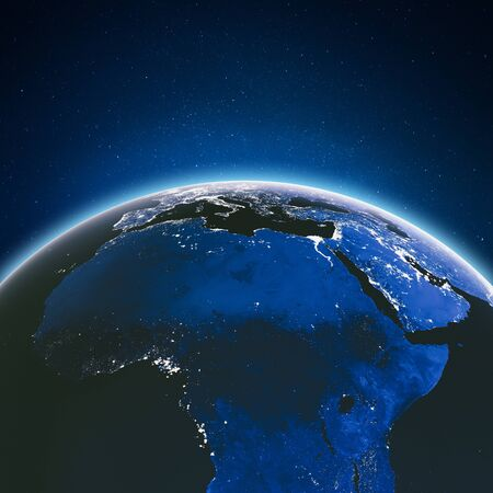 Earth from space. 3d rendering