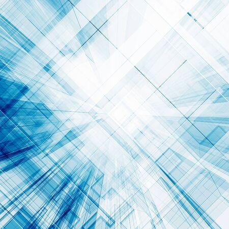 Arquitectura abstracta Representación 3D de fondo de vista de concepto Foto de archivo