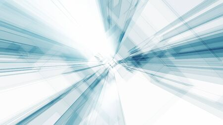 Blue glow white color transparent glass abstract background. 3d rendering