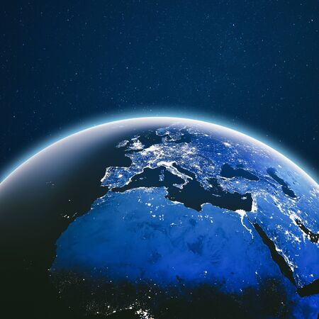 Earth from space. Stock Photo