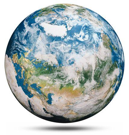 Planeta tierra globo aislado.