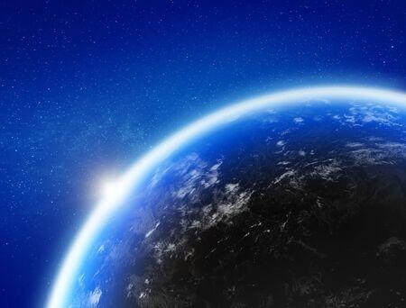 La Terre vue de l'espace Banque d'images