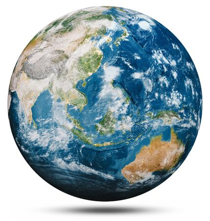 Planet Earth globe isolated.