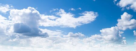 Sky clouds summer panorama background