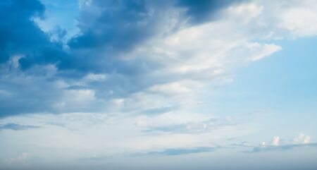 Cloudy blue sky. Summer day background
