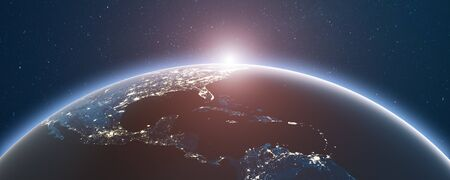 Earth from space 3d rendering