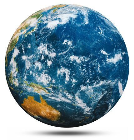 Planet Earth globe isolated 3d rendering