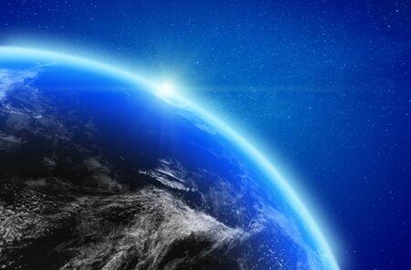 Planet Earth stratosphere 3d rendering Stok Fotoğraf