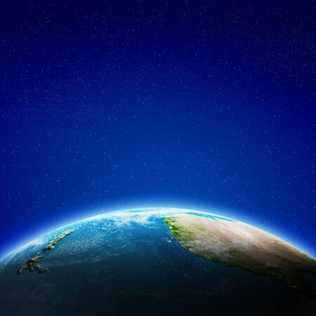 Australia and New Zealand 3d rendering
