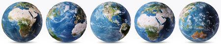 Planet Earth weather map set. Stok Fotoğraf