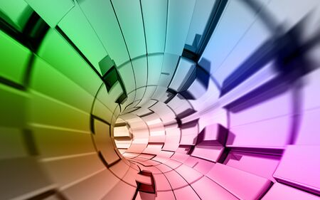 Rainbow colors technology background 3d rendering