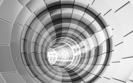 Abstract tunnel technology background 3d rendering