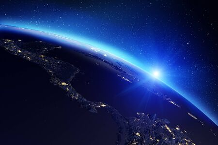 Planet Earth map 3d rendering