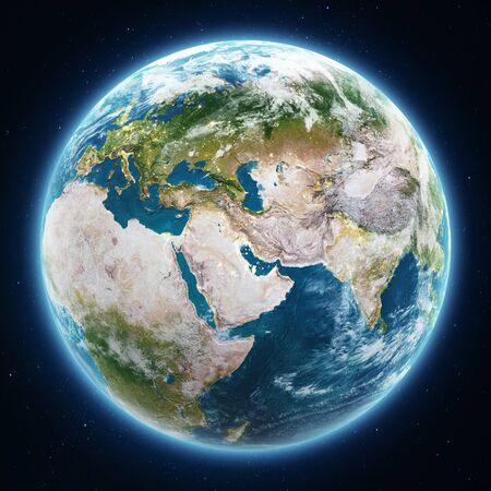 Planet Earth globe at night. Stok Fotoğraf