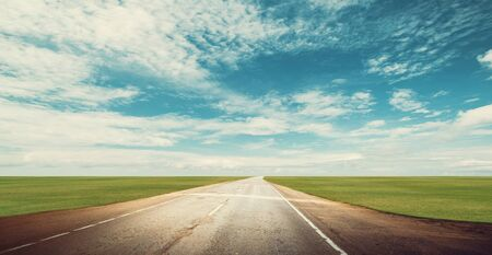 Panoramic road highway summer background