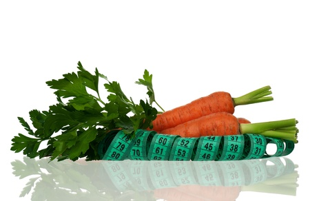 Carrots with parsley photo