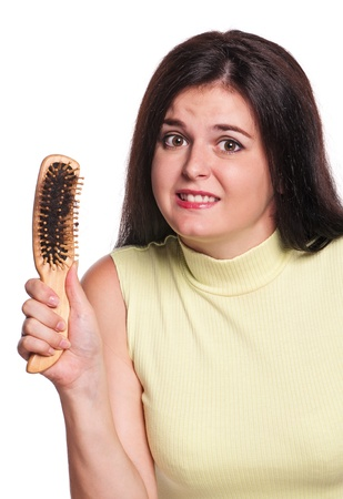 Girl with hairbrush