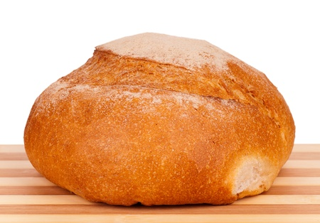 food additives: Round white bread