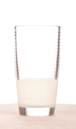 Milk in a glass
