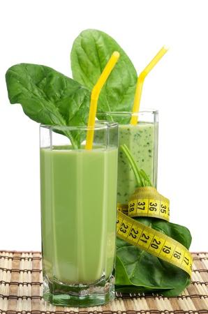 jugo verde: Espinacas smoothie