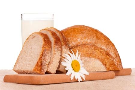 White bread slices Stock Photo