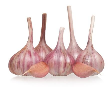 clean artery: Garlic bulbs Stock Photo