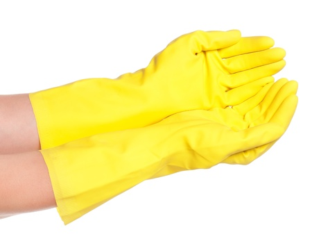 Hands in gloves Stock Photo - 17662485