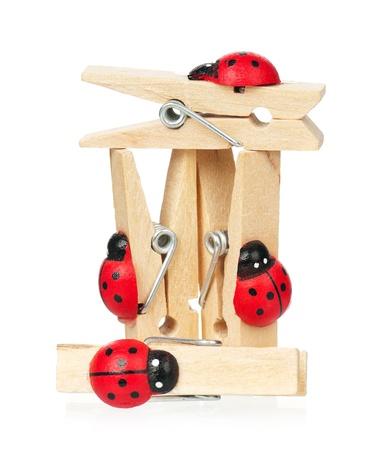 clothespins: Wooden clothespins