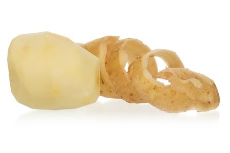 껍질을 벗 겨 감자