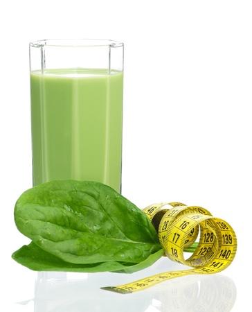 Spinach smoothie Reklamní fotografie
