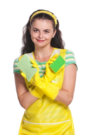 houseclean: Young housewife