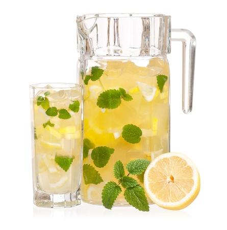Lemonade with mint Stock Photo