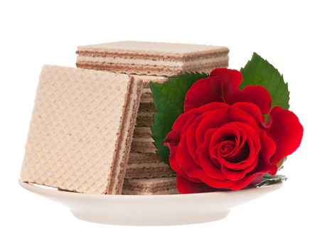 petit dejeuner romantique: D�jeuner romantique pour la Saint-Valentin sur blanc