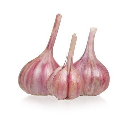 Garlic bulbs isolated on white background cutout Stock Photo