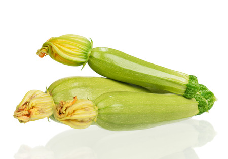 Fresh vegetable marrows isolated on white background Stok Fotoğraf