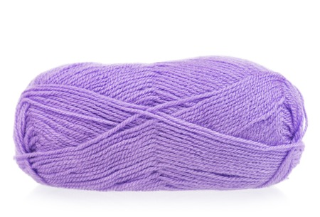 Bright woolen yarn for knitting isolated on white background