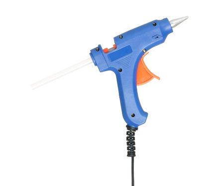 New glue gun isolated on white background cutout Stock Photo