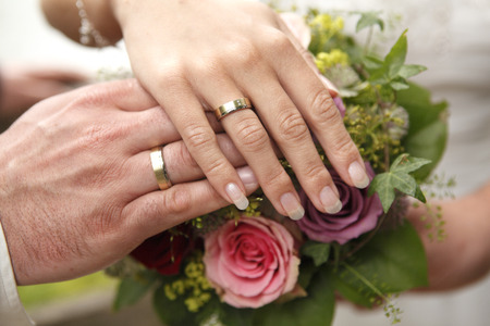 The hands of a bride and a groom 写真素材