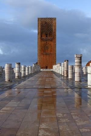Hassan Tower in Rabat, Morocco 写真素材