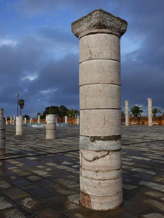 mohammed: Pillar of the mausoleum of Mohammed V  in Rabat