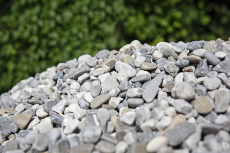 Close-up of gray gravel on a heap Stock Photo