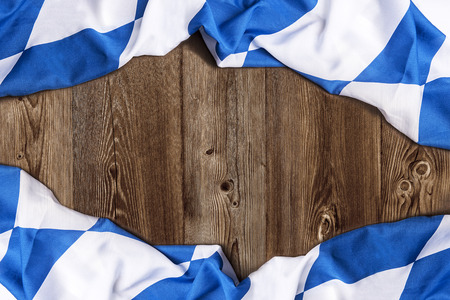 Bavarian flag on wooden board  Stock Photo