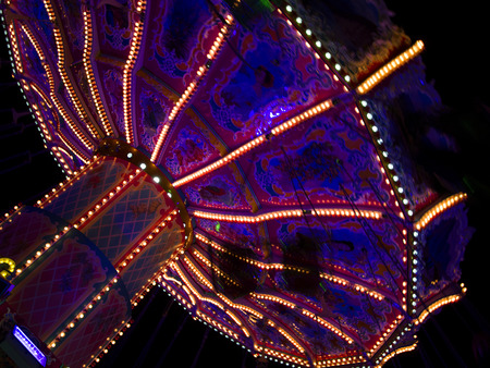 Beautiful merry-go-round at the Oktoberfest in Munich, Germany photo