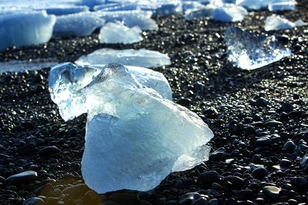 ice floes: Blue ice floes at glacier lagoon Jokulsarlon